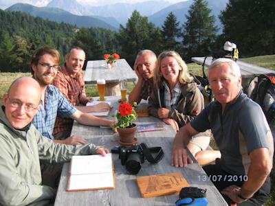 Der Autor (ganz links) mit einigen Venediggehern im Sommer 2010.