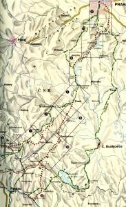 Zweites Wegstück: vom Bayrischen Wald nach Prag.