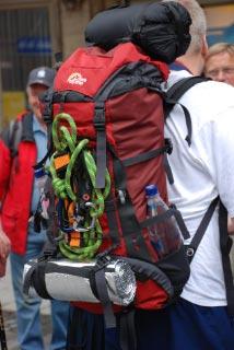 Mit leichtem Gepäck (und Klettersteigset).