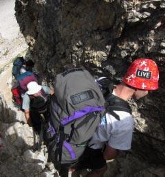 Klettersteigpassage Sella Nivea